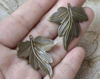 8 pcs Antique Brass Marijuana Leaf Filigree Jewelry Connectors Setting,Connector Findings,Filigree Findings,Flower Filigree