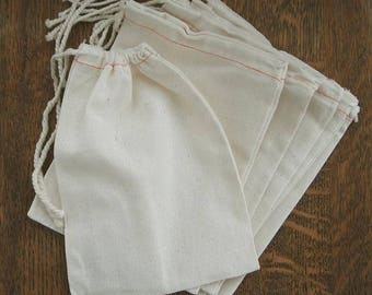 "CUSTOM LISTING ORDER Add On 50 Muslin Drawstring Bags 3 x 4"" Natural Cotton for stamping, packaging, plain bags, gift bags,"