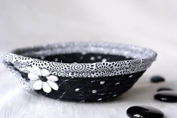 Fun Candy Dish, Cute Ring Holder Tray, Handmade Fabric Bowl, Key Tray, Small Fabric Dish, Cute Desk Accessory Basket, Soft Fiber Pottery