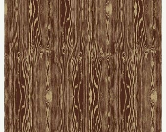 SALE 10% Off - Woodgrain in Bark  JD42 - Joel Dewberry - Aviary 2 -  Free Spirit Fabric  - By the Yard