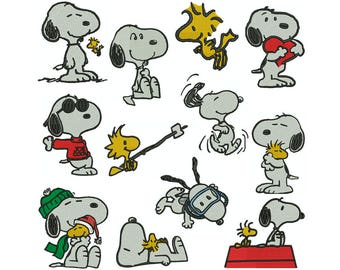 SNOOPY - Machine Filled Embroidery - Patterns - Instant Digital Download