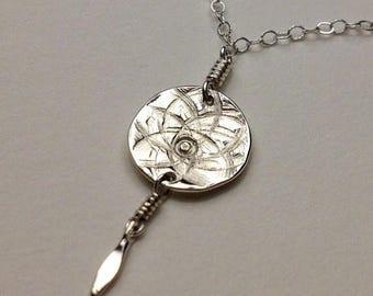 SALE Tiny Dreamcatcher Sterling Silver Necklace