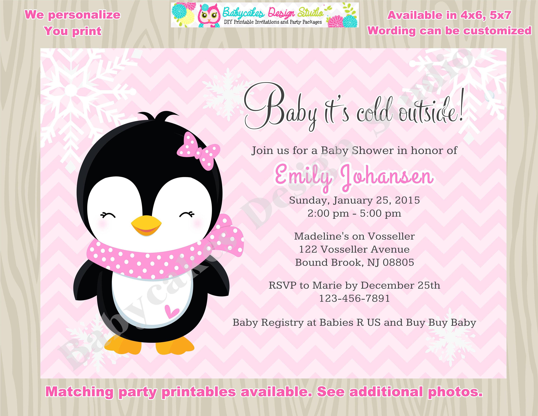Winter Baby Shower Invitation Invite Baby It s Cold