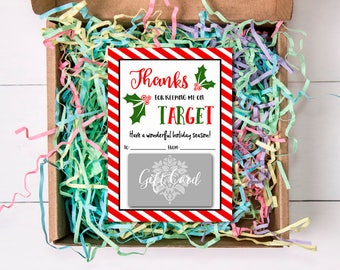 Holly Jolly Christmas Gift Card Holders, Merry Christmas, Target, 5x7, Teacher's Gifts, Green, Red, INSTANT DOWNLOAD