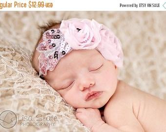 10% SALE Baby headband, newborn headband, adult headband, child headband andphotography prop white wedding feather christening
