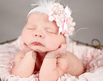 10% SALE Baby headband, newborn headband, adult headband, child headband and photography prop The single sprinkled- ELEGANCE headband