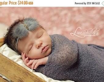 12% off Newborn headbands Baby headband Adult headband Child headband Baby hairbow Photo prop Preemie headband fur headband hair clip