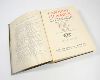 French Larousse Housekeeping Book from 1926