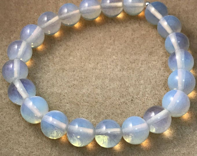 Opalite Bracelet, Opalite Stretch Bracelet, 10mm Bead Bracelet, Opalite Beaded Bracelet, Opalite Jewelry, Gifts for her