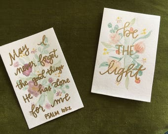 "4""x6"" watercolor quote"