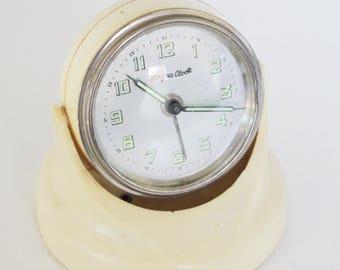 Vintage MagnaClock - Magnetic Wind Up Alarm Clock - Glass Laboratories Inc.