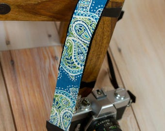 Camera Strap - DSLR Camera Strap - Padded Camera Neck Strap - Nikon Strap - Sea Turtle Gifts - Canon - Sony - Blue Turtle - READY to SHIP