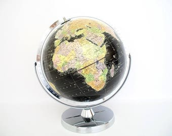 Vintage World Globe - Starlight 1961 - Cold War Eames Retro - Replogle