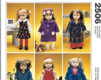 "McCall's 2506 American Girl Gotz 18"" Doll Clothes Sewing Pattern UNCUT Time To Dream"