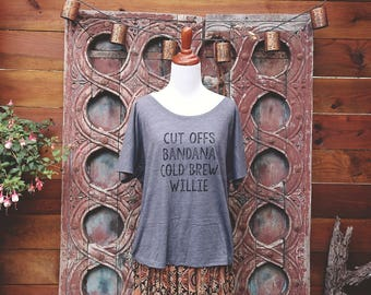 Willie Nelson Slouchy Tee