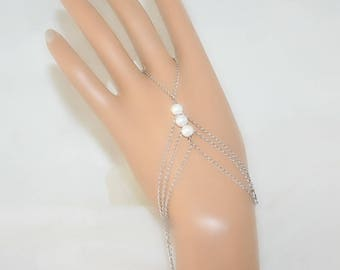 Ring bracelet with freshwater pearls (m4a1)