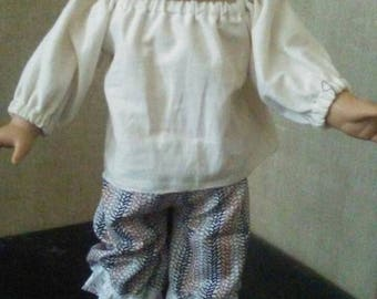 Striped pantaloons