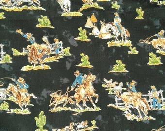 Vintage Cowboy Curtains, Vintage Cowboy Valances,Black And Blue Curtains,Western  Curtains,
