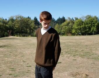 Kitex Austrian Wool Brown Wool Sweater