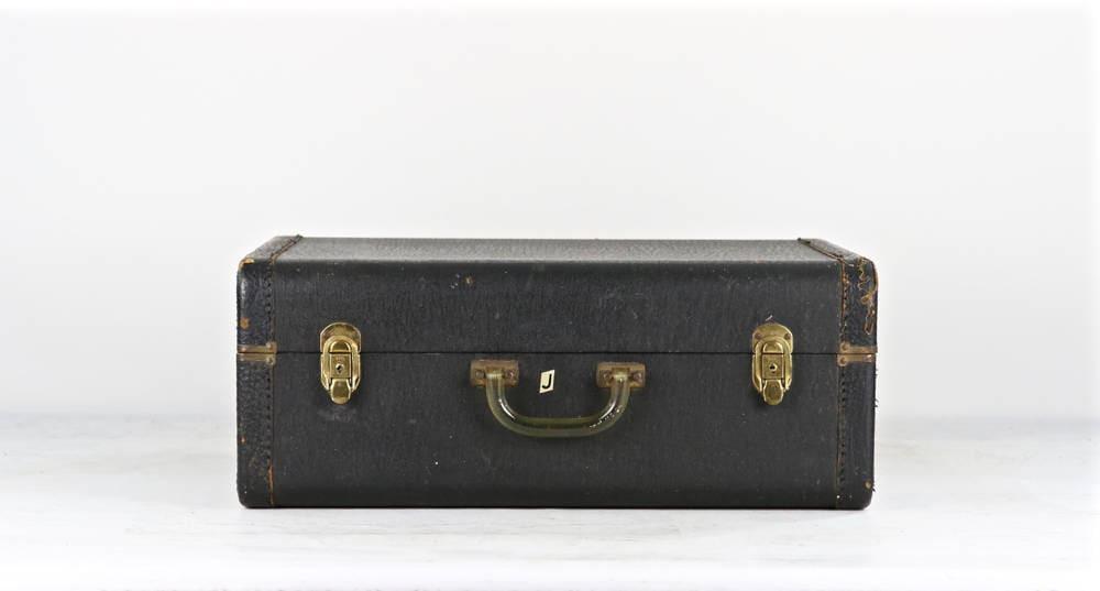Vintage Black Suitcase Black Leather Suitcase Vintage
