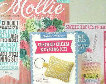 Mollie Makes, Handmade Crafts, Mollie Makes Issue 82, Key Ring Kit, New Mollie Makes Magazine