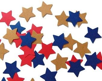 4th of July Confetti, Stars Confetti, Patriotic Party Decorations - No806