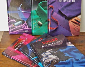 Vintage Singer Sewing Reference Library Sewing Books Seamstress Sewing Room Patterns Vintage 1980s