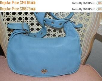 On Sale Coach~Coach Bag~Coach Legacy Bag~ Coach 1955~ Coach Stewardess  Bag BLUE~Great Condition