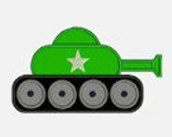 Army Tank...Embroidery Applique Design...Three sizes for multiple hoops...Item1267...INSTANT DOWNLOAD