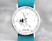 Little Prince Friends - watch, Ewa Saj, wirst watch, gift for her, art watch, woman watch, hand watch, watch with graphic,