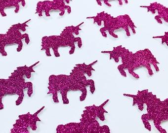 Pink Unicorn confetti