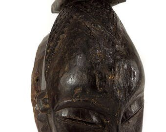 Yaure Portrait Mask with Animal on Top Cote d'Ivoire African Art 116926
