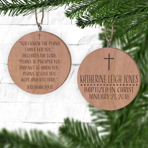 Baptism Ornament Personalized Christmas Ornament Christening: Baptism Ornament Personalized Christmas Ornament Christening