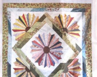 "Cozy Strip Club - Dresden Bloom # SRRDB Quilt Pattern, Cozy Quilt Designs, Pattern for 2 1/2"" Strips."