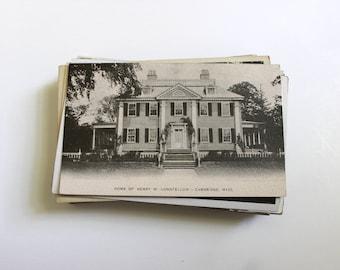 75 Vintage Massachusetts Unused Black and White Postcards Blank - Wedding Guestbook