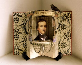Edgar Allen Poe 1904 Altered book Antique Reliquary