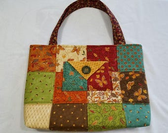 Charm Pack Purse or Small Tote-Fall or Autumn Colors and Prints