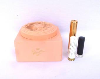 VINTAGE Pink POWDER BOX/ Evy Ann