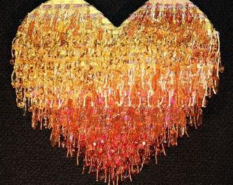 Beaded Wall Art, Custom-Designed Colors & Shapes, Starting at 75.00