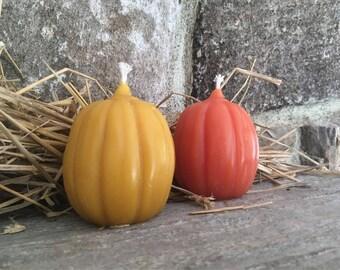 Pure Beeswax Pumpkin Candles