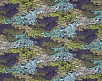 Moon Shine Camo Deluxe Indigo cotton quilting fabric by Tula Pink for Free Spirit and Westminster Fibers - PWTP057 INDIGO