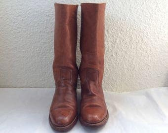 Frye  Boots - Totally Funky and Well Worn Frye Boots - Black Label Frye Boots Made in USA