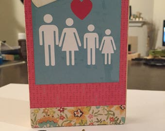 Wall Plaque, Key Rack, Jewelry Holder - Our Family!