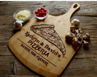New Years SALE 18% Off - Personalized Pizza Paddle, Personalized Wedding Gift, Housewarming Gift, Anniversary Gift, Personalized Pizza Paddl