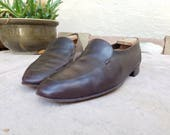 Vintage Mens 10 Bally Mason Continentals Switzerland Loafers Loafer Oxfords Brogues Classic Brown Leather Dress Shoes Hipster Preppy Style