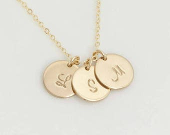 Add on - An Initial Charm, Tiny Gold Filled or Sterling Silver Initial Charm