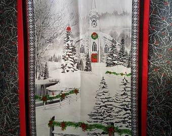 Home for the Holidays Wall Hanging Kit, Robert Kaufman Fabrics