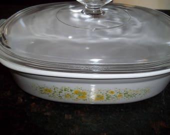 Corning Ware 1 1/2 Quart April Casserole Dish DC-1 1/2-B with lid