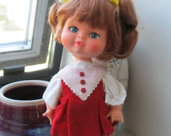 1960s Doll with Cute Shoes and Dress