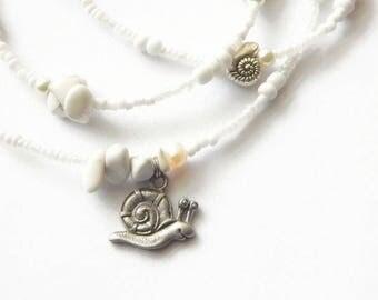 Waist Beads, Obatala Waist Beads, White Orisha Waist Beads, White Belly Beads, White Belly Chain, African Jewelry